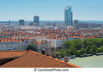 Lyon in a summer day