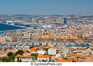 Marseille at a sunny summer day