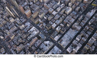 cityscape of midtown district in manhattan