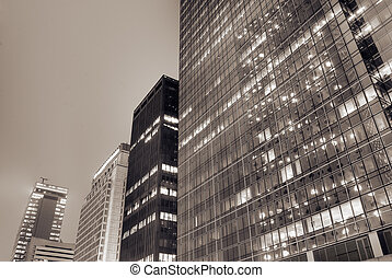Cityscape of modern building exterior