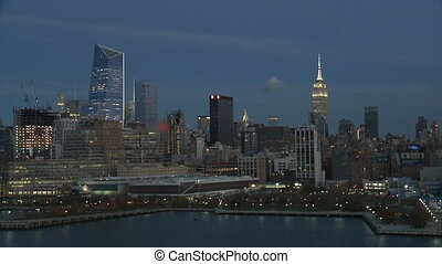 cityscape of New York at night,part 1-USA-New York-july...