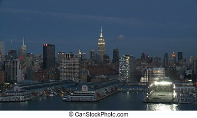 cityscape of New York at night,part 2-USA-New York-july...
