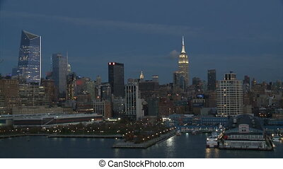 cityscape of New York at night,part 3