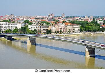 Cityscape of Novi Sad, Serbia - Cityscape in Novi Sad,...