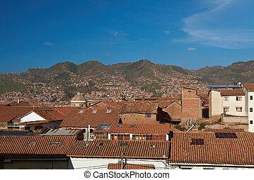 Cityscape of old cusco in Peru