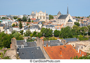 Poitiers at a summer day
