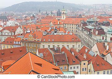 Cityscape of Prague, Czech Republic