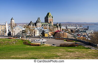 Quebec City - Cityscape of Quebec City with Chateau ...