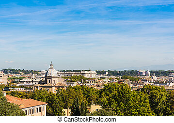 Cityscape of Rome seen from Promenade of the Janiculum, ...