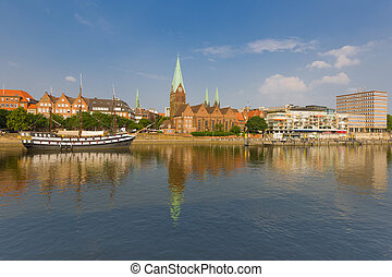 Cityscape of summer Bremen
