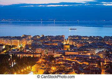 Cityscape of Thessaloniki, Greece