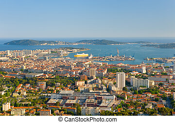 Toulon in a spring evening