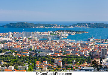Toulon in a spring morning
