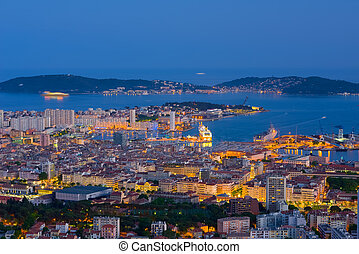 Toulon in a spring night