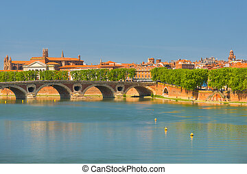 Toulouse at a summer day