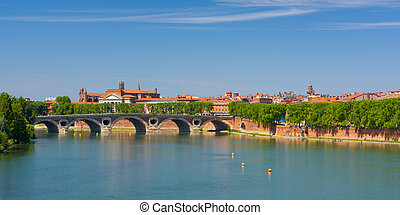 Toulouse in a summer day