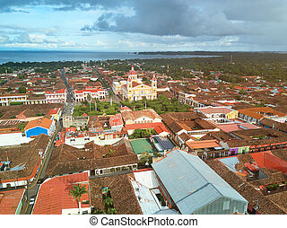 Cityscape of tourist town Granada