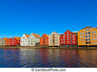 Cityscape of Trondheim Norway
