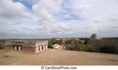 Cityscape of Uxmal - Cityscape view of ancient Mayans ruins...