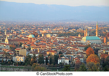 cityscape of Vicenza, Veneto region in northern Italy