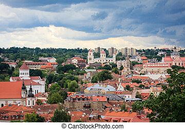 Cityscape of Vilnius
