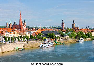 Wurzburg in a sunny summer day