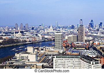 cityscape, oko, londyn