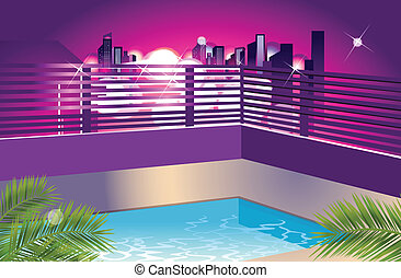 This illustration is a common cityscape.