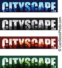 cityscape overprint background set