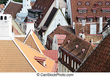 cityscape, panorama, tallinn, estónia