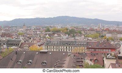 cityscape, panorama, zurich