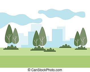 cityscape, parc
