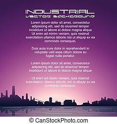 cityscape, plante, industriel, usine, puissance