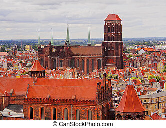 cityscape, pologne, gdansk