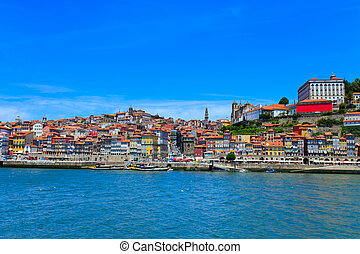 cityscape, porto, europe., skyline., portugal