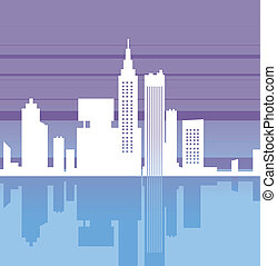Cityscape reflection - This illustration is a common...