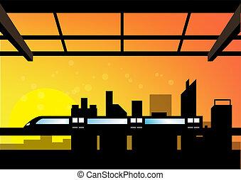 cityscape, scène