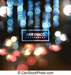 cityscape, scena, notte