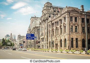 cityscape, shanghai, bund