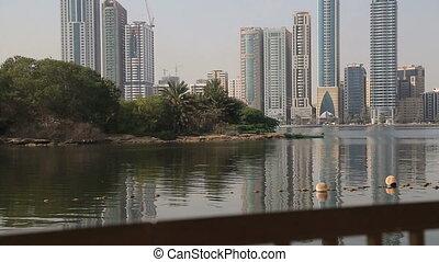 Cityscape Sharjah - Skyscrapers in Sharjah United Arab...