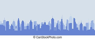 Cityscape silhouette urban illustration. City skyline building town skyscraper horizon background