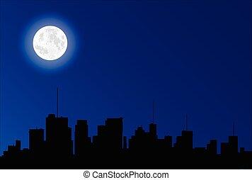 cityscape, silhouette