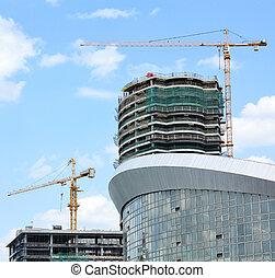 cityscape, site construction