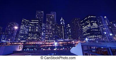 cityscape, skyline, chicago