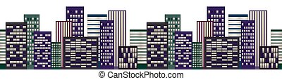 cityscape, skyscapers, noturna