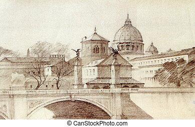cityscape, stadt, römisches , vatikan