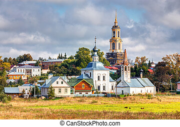 Cityscape Suzdal. Russia - View of the church in Suzdal....