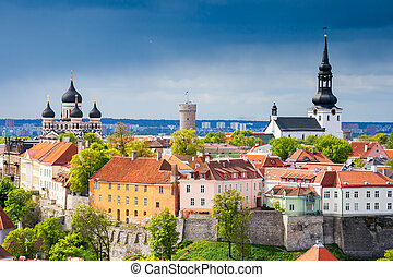 cityscape, tallinn., estónia