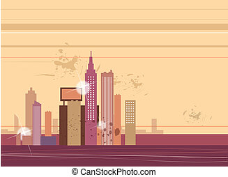 Cityscape - This illustration is a common cityscape.