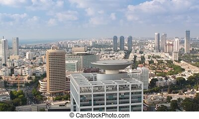 Cityscape Time Lapse - Tel Aviv Aerial View Time Lapse